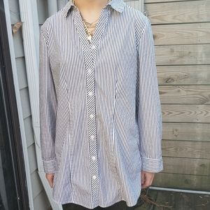 Chicos Oversized Button Dwn Top